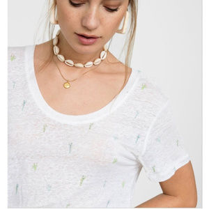 Rails Luna White Watercolor Cactus T-Shirt NWT